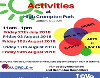 Free Summer Activities - High Crompton Park