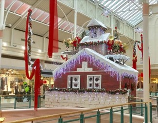 Santa's Grotto at Spindles Town Square, Oldham